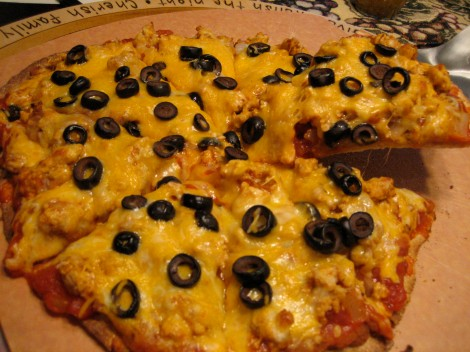 Giant Taco Pizza