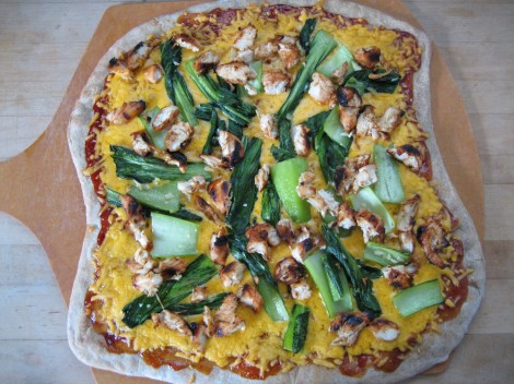 chicken_bok_choy_pizza
