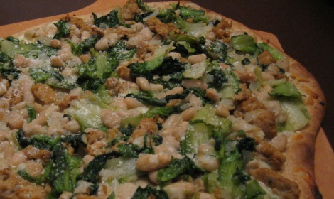 Greens and Bean Pizza