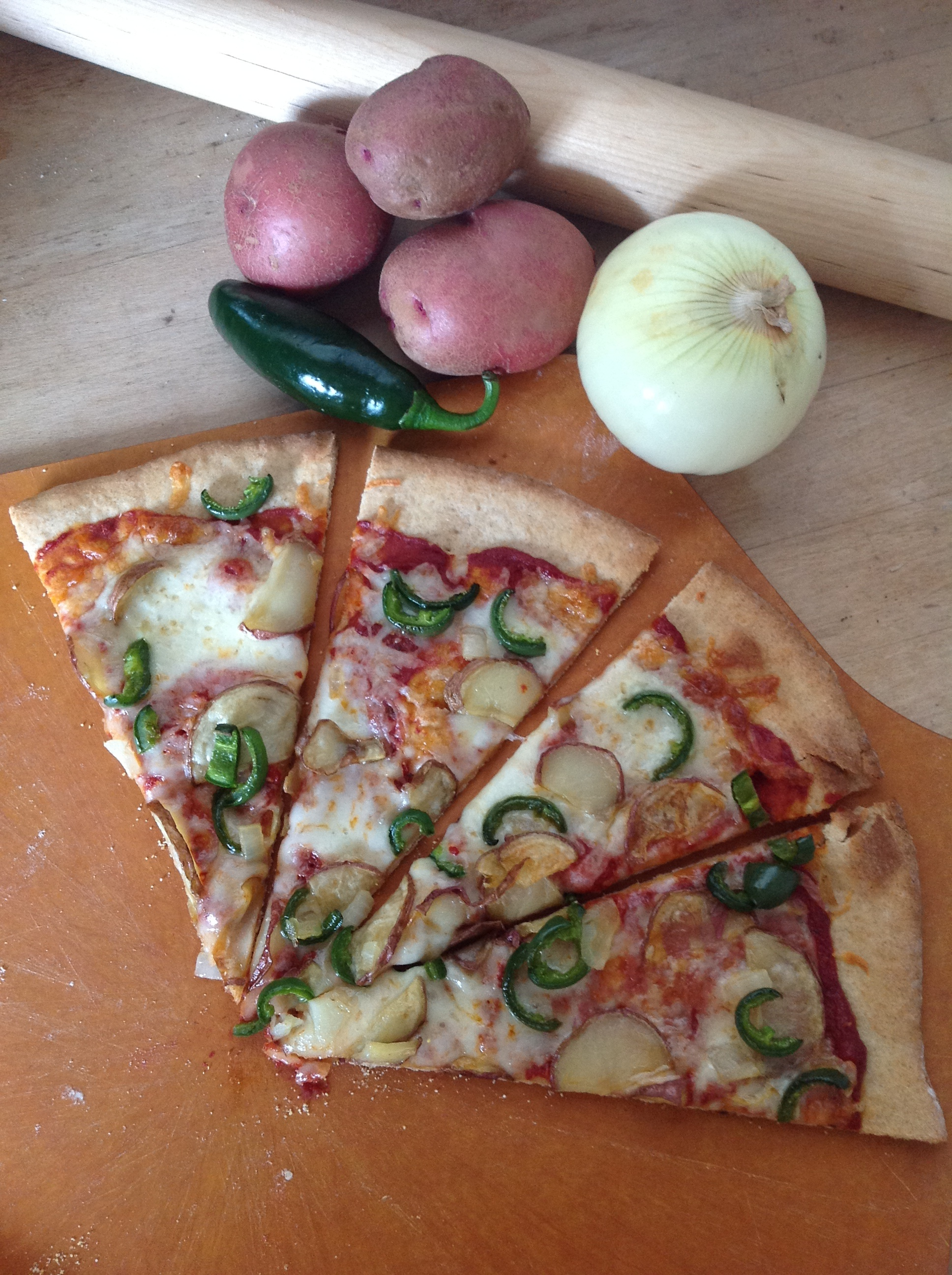 Hot Pepper, Potato, and Onion Pizza Recipe | Girl Loves Pizza