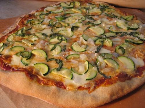 Zucchini and Onion Pizza
